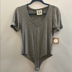 New with tags PPLA heather grey bodysuit